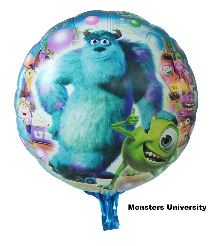 New arrive 50pcs/lots wholesales 18 inch Monsters University balloon Birthday party Printed cartoon balloons Hot Free shipping<br><br>Aliexpress