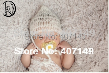 Clearance Handcraft Baby Crochet Mohair Bonnet Baby Shower Gift Baby Photography Props(China (Mainland))