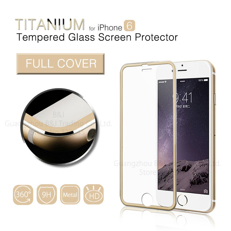 Full Cover Premium Tempered Glass Screen Protector for iPhone 6/6s 4.7 Tempered Glass Protective Film for iPhone 6/ 6S Plus 5.5(China (Mainland))