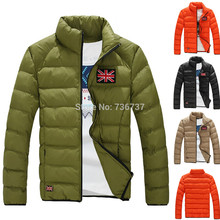 (Bust 140cm)Free Shipping New 2015 Winter Men's Cotton Jacket Fashion Casual Warm Coat 4 Colors Size:M-5XL 9999