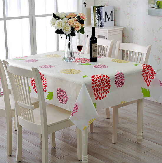 Table cloth High quality fashion PEVA matte transparent waterproof dustproof cloth easy cleaning cloth linoleum anti dust cover(China (Mainland))