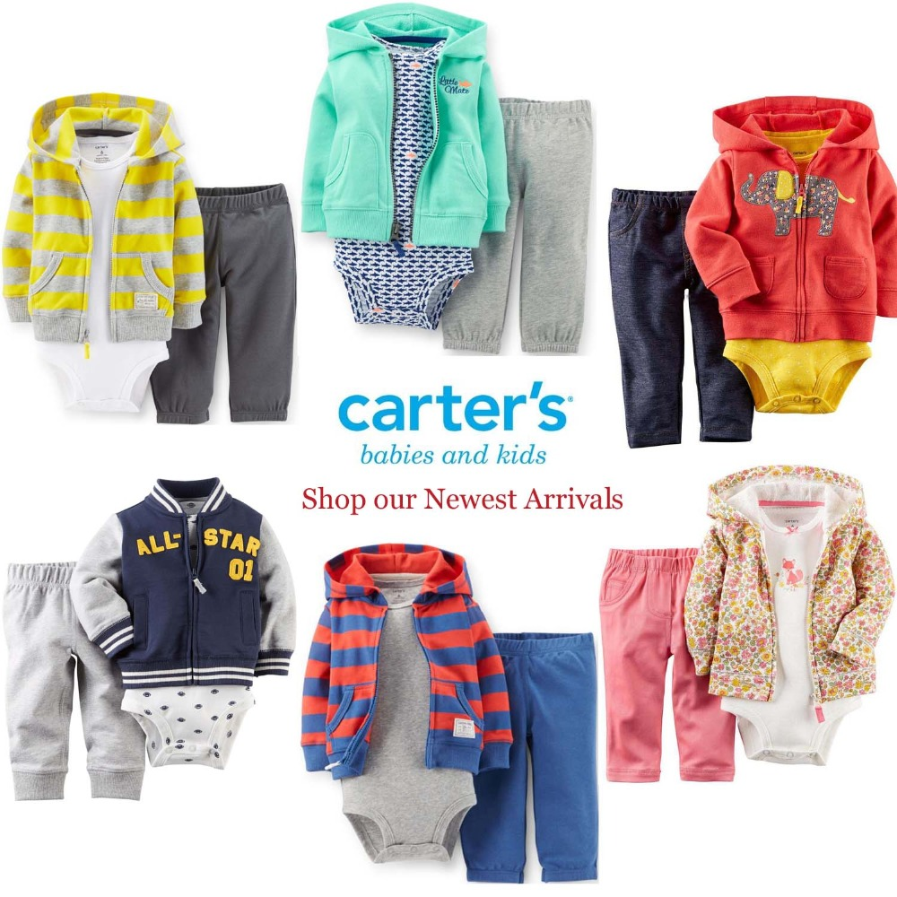 Retail Carters sets (coat romper pants ) baby boy clothing infant clothes Autumn Spring children suits size in NB-24M