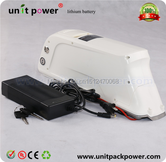 Free shipping 500w ebike lithium battery 36v 12ah electric bike li ion battery with charger(China (Mainland))