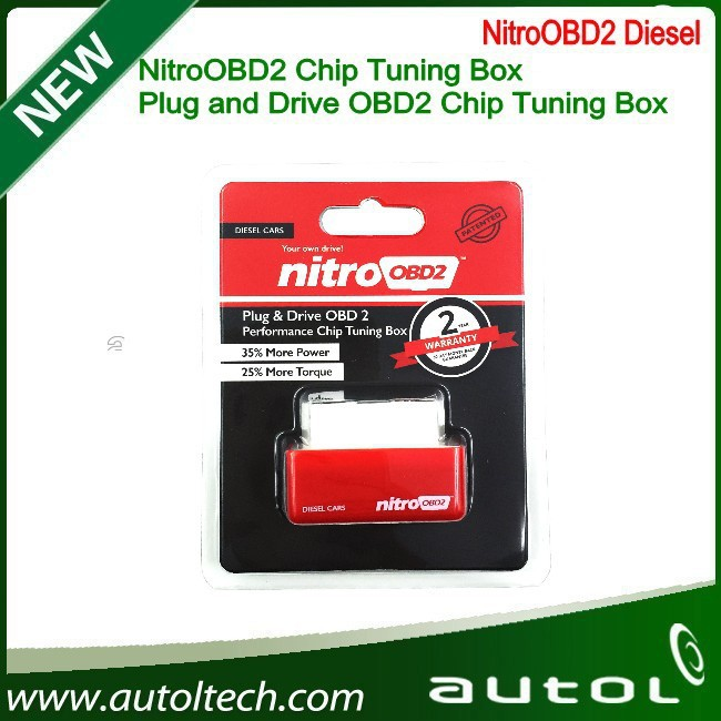 New arrived Plug and Drive NitroOBD2 Diesel Chip Tuning Box increasing the performance of engine ECU Flasher Tools(China (Mainland))