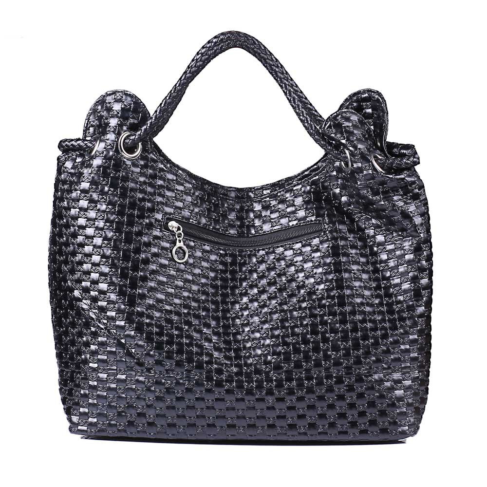 Hot Selling Women Braid PU Leather Handbag Tote Shoulder Bags Large Capacity PU Weave Bags Fashion Design Free Shipping<br><br>Aliexpress
