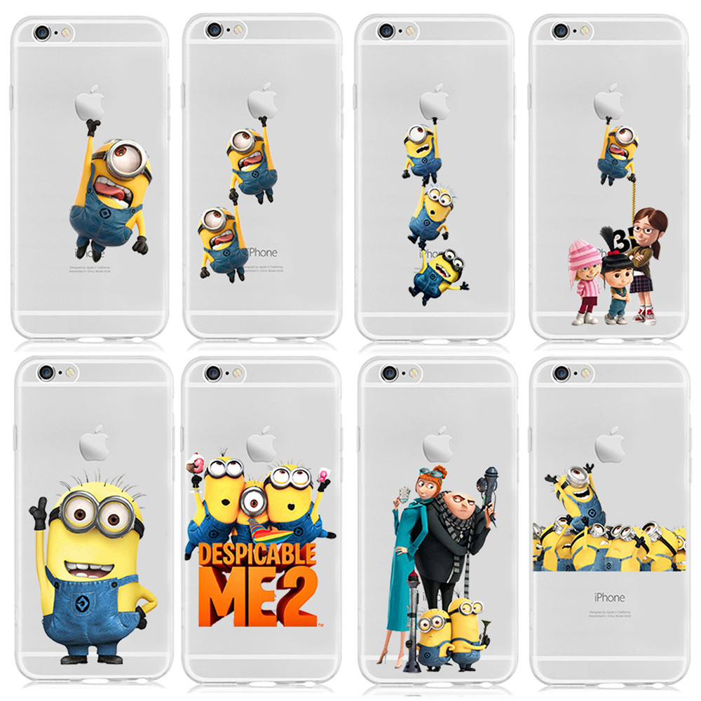 2015 New Fashion Despicable Me Yellow Minion Design Case cover For iphone 6 4.7 inch Free Shipping(China (Mainland))