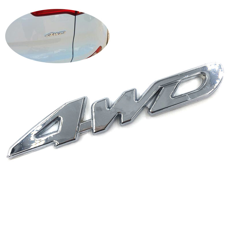 New Car Tail Sticker 3D Chrome 4WD Logo Displacement Emblem Badge All Wheel Drive Car Styling Decal for Ford Toyota VW BMW Honda(China (Mainland))