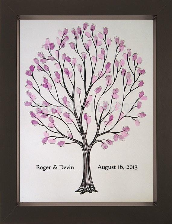 40x60cm fingerprint wedding tree guest book thumbprint guest book for wedding gifts on
