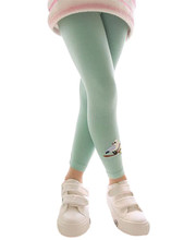 Stylish 2015 Hot 5 Color Kids Baby solid Cotton Pants Bird Pattern Stretch Warm Leggings for