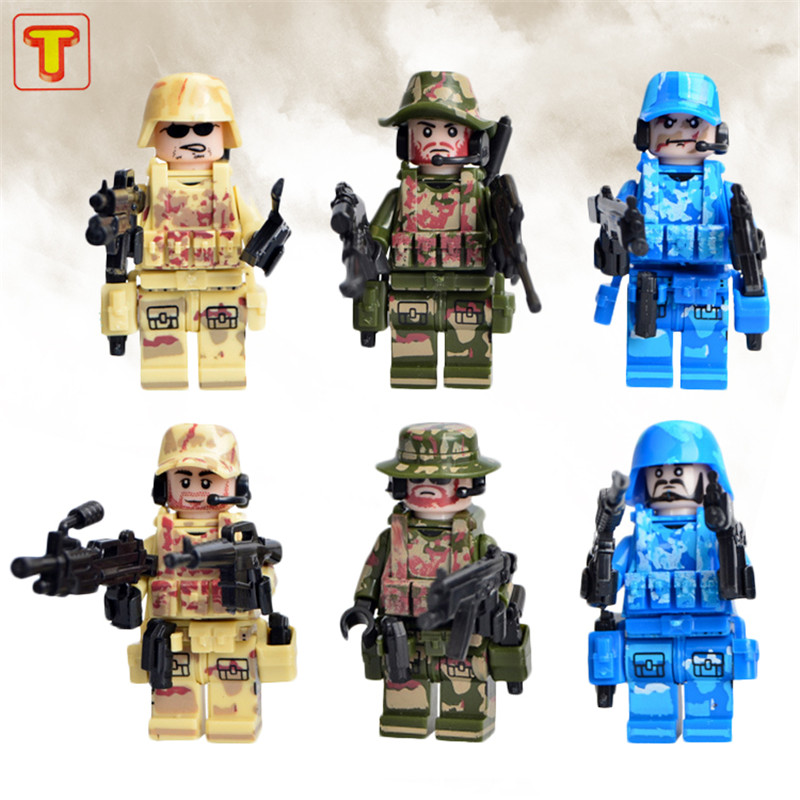 World War 2 Armed Force Commando Fight Minifigure Weapon Military Army Building Toys Doll D162  P234<br><br>Aliexpress