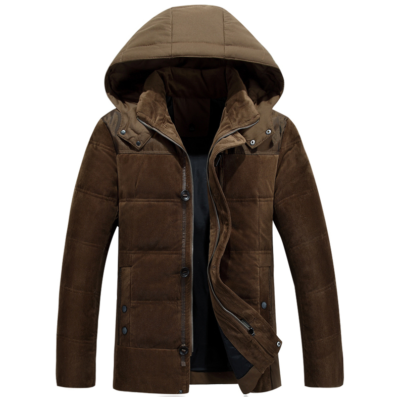 2015 Men Down Coat With Hood Coat Men Winter Jacket Men s Male White Duck Down