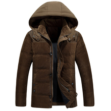 2015 Men Down Coat With Hood Coat Men Winter Jacket Men's Male White Duck Down Jacket Coat Down-Jacket Coats Plus Size