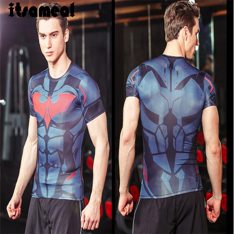 Batman V Superman T-shirts Superhero Fitness 3D Printed T Shirts - ANHUI RUIQIQIAN TRADE CO,. LTD store