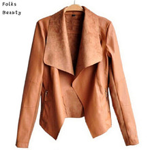 PU Leather Jacket Women Clothes 2015 Faux Turn-Down Collor Female Jackets Womens Slim Coats Plus Size Feminino Chaquetas Mujer(China (Mainland))