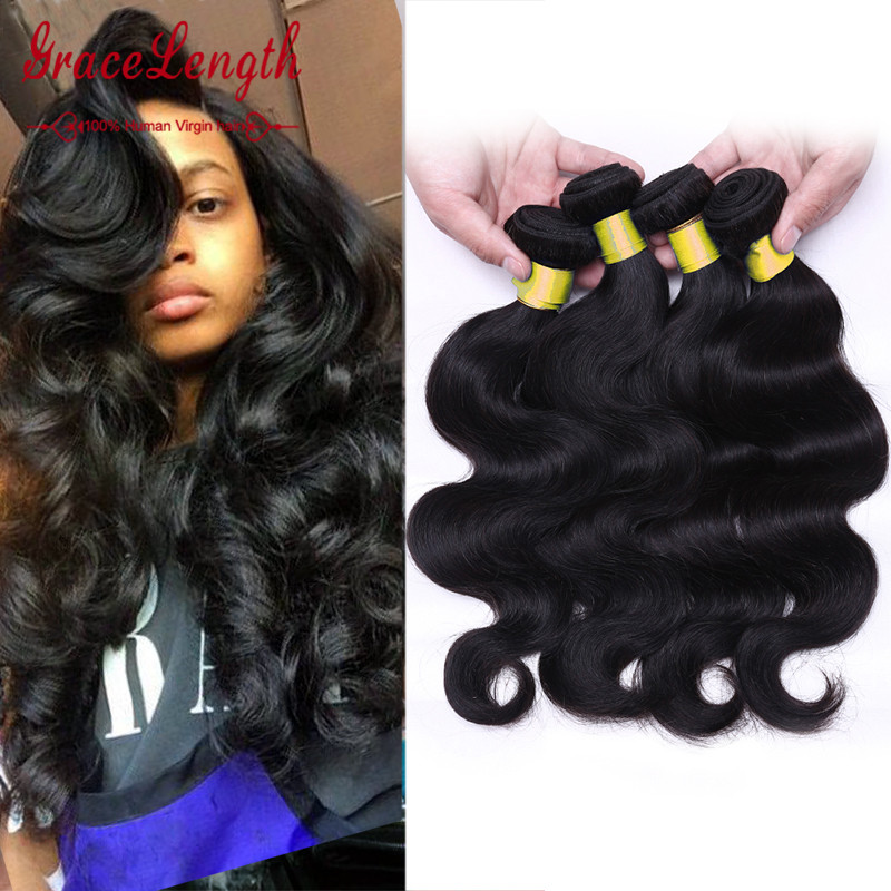 2015 Sale Top Fashion Бразильские женские волосы Объемная волна 1pcs Grace Hair Products Unprocessed/Wet and Wavy Virgin Brazilian Hair