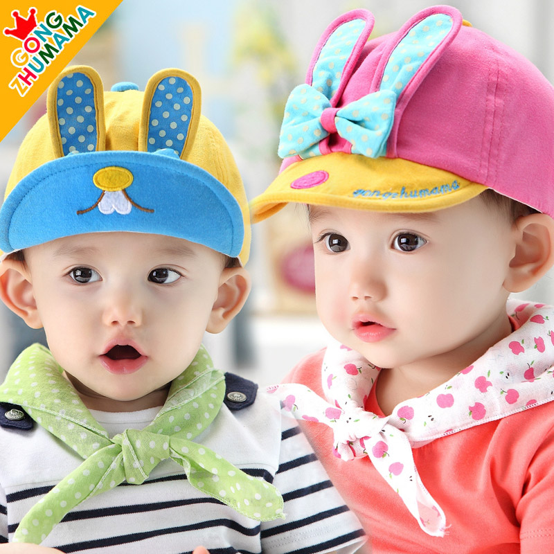 Male female child baby spring and autumn child hat newborn infant 0 - 1 - 2 years old benn baseball cap(China (Mainland))