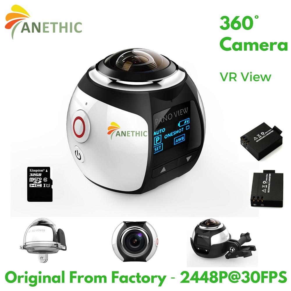 VR View 360 Camera Wifi Mini Panoramic Camera 2448*2448P/30fps Ultra HD Panorama Video Camera 360 Degree Sport Driving VR Camera(China (Mainland))