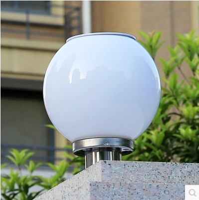 Фотография Outdoor solar lights super bright led road spherical cell wall garden landscape column round headlights