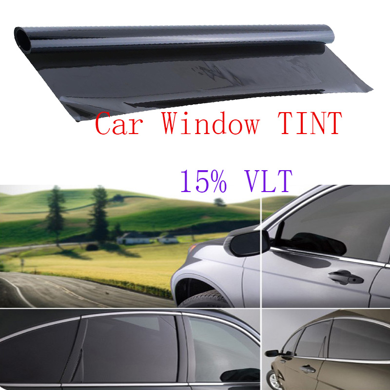 Professional dark smoke black auto car window glass tint for 15 window tint pictures