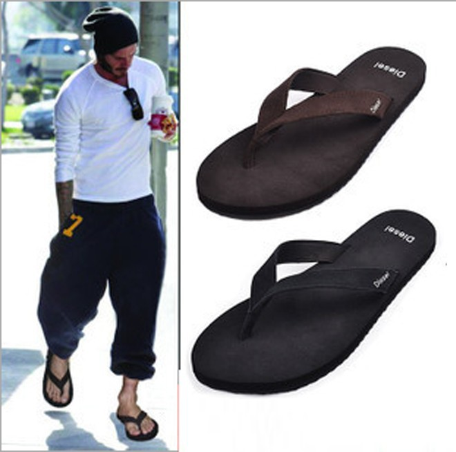 2015 New Hot size 7-11 new D brand large sizes men fashion slippers rubber sole casual men flip flops Leather sandals cowhide<br><br>Aliexpress