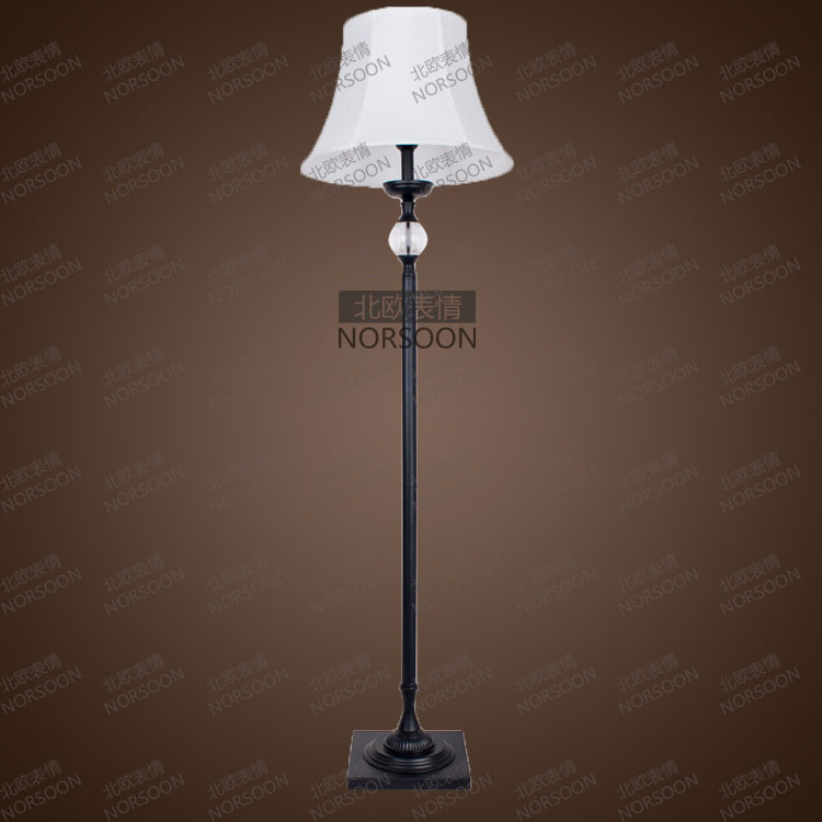 fashion fabric floor lamp american style table lamp. Black Bedroom Furniture Sets. Home Design Ideas