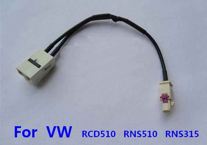 Для фольксваген RCD510 RNS510 RNS315 MDF3 радио антенна 1 FAKRA превращаются в 2 FAKRA жгут проводов кабеля