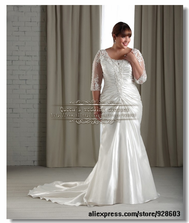 Buy 2014 plus size fantastic mermaid for Wedding dresses for under 200