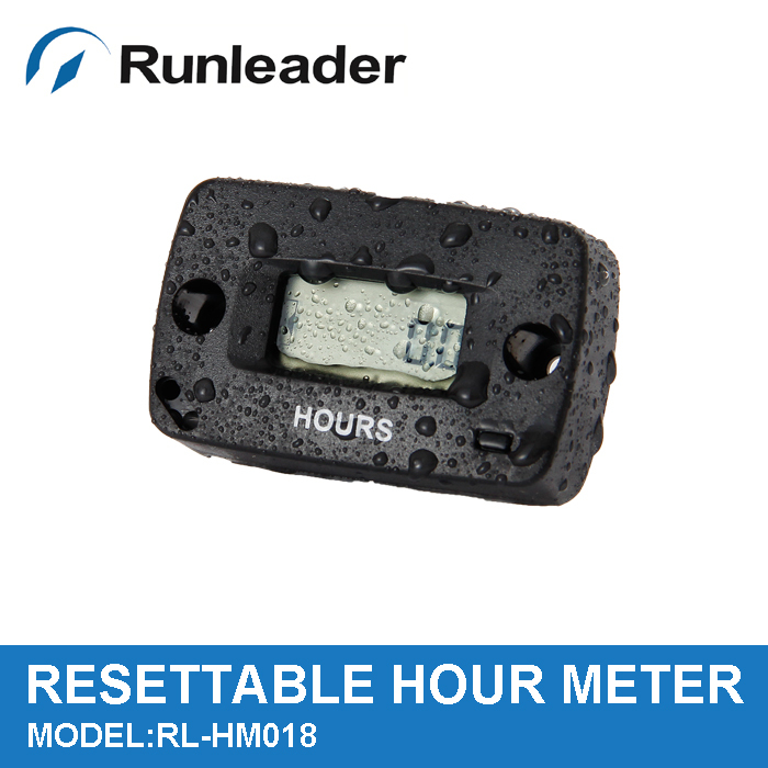 Inductive Re-settable Waterproof digital Hour Meter Motocross counter used for Gas engine MARINE ATV BOAT SNOWMOBILE(China (Mainland))