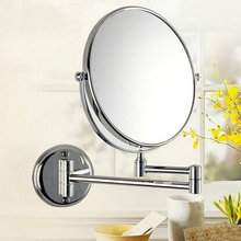"20cm 8"" Dual Makeup Mirrors 1:1 and 1:3 Magnifier Copper Cosmetic Bathroom Double Faced Bath Mirror(China (Mainland))"