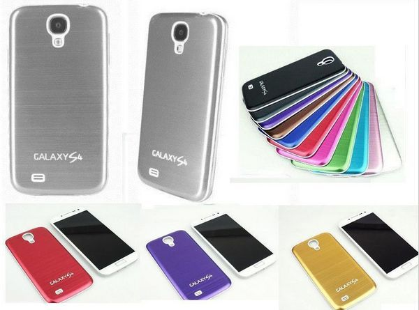 2015 Hot New Aluminum Metal Battery Back door Cover Housing case ForSamsung Galaxy S4 i9500--Free shipping MT2407(China (Mainland))