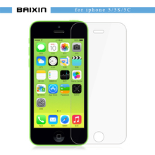 Ultra Thin 0.3mm 2.5D Tempered Glass Screen Protector For iPhone 5 5S 5c HD Toughened Protective guard Film + Cleaning Kit(China (Mainland))