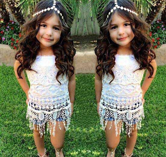 2015 New Summer Girls Clothing Sets ( Girls T shirt Tassels + Denim Shorts ) Kids Clothes Girl Casual Suit  1581<br><br>Aliexpress