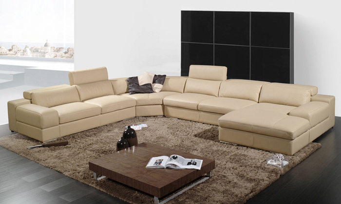 Free Shipping 2016 Latest House Designs Moden Leather Sofa