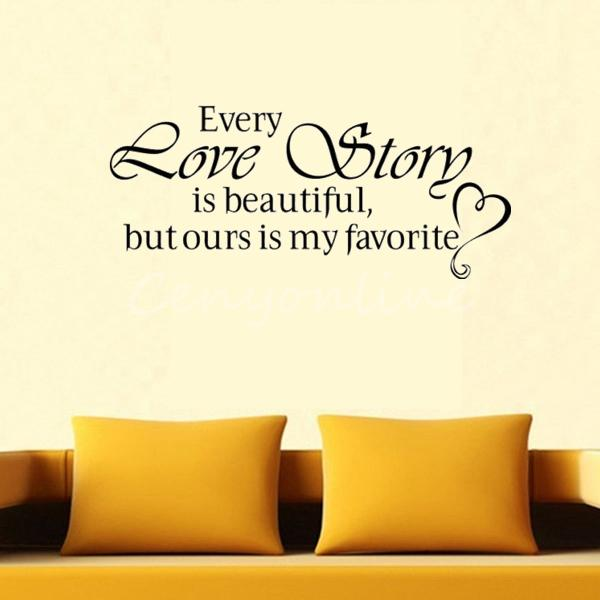EVERY LOVE STORY DIY Lettering Words Wall Art Decal Vinyl Wall Sticker Mural Home Decor Inspiration(China (Mainland))