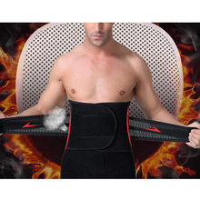 Men Adjustable Waist Training Cincher Belt Fitness Waist Support Body Shaper Belly Corset with Burning Fever Lingerie Magic Pad(China (Mainland))