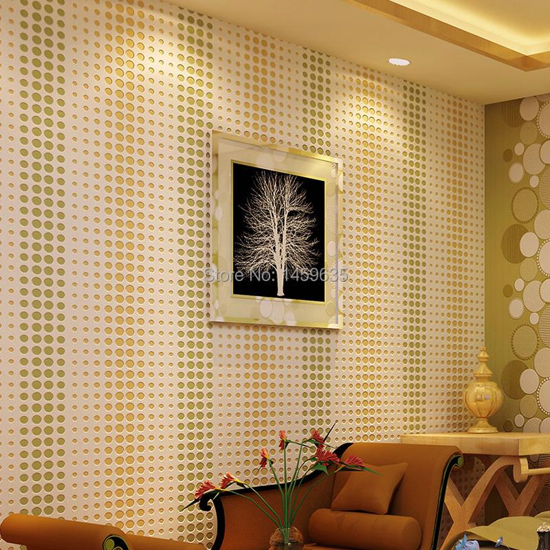 Muster Tapete F?r Schlafzimmer : Geometrische dot muster tapete, 3d stereoskopische tapete f?r