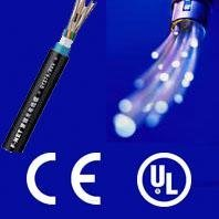 Waterproof figure 8 fiber optic cable with CE and ISO