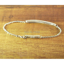 Personalized Bar Bracelet Hand Stamped, Customized Silver Jewelry, Engraved Name Bracelet,Nameplate Bracelet,Memorial Jewelry(China (Mainland))