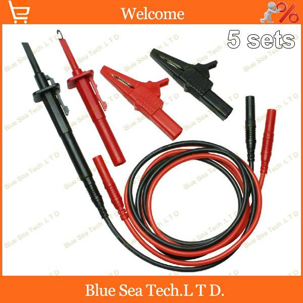 5sets мультиметр ручка расширения тестовый кабель+4мм Джек Аллигатор клип+быстрая проверка крюка 3 в 1. 13 СРГ 2.5 кв. CATIII 1000В/32А