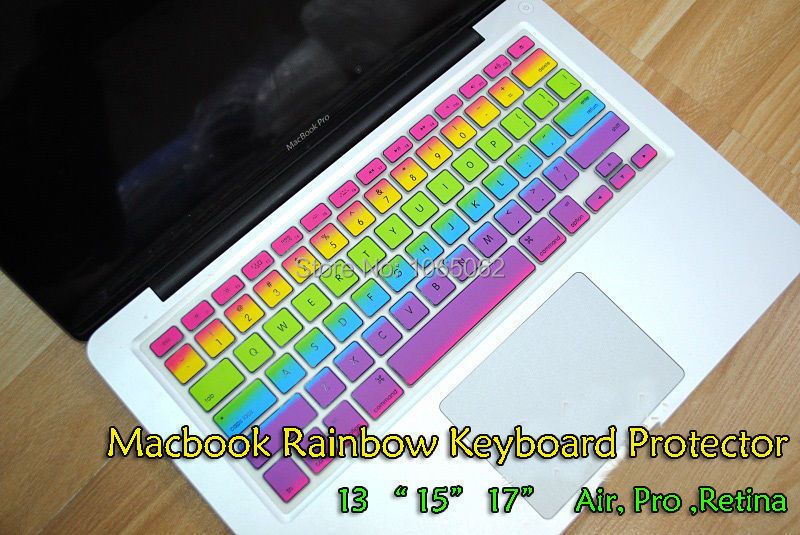 Rainbow US layout silicon keyboard keyboard skin cover for