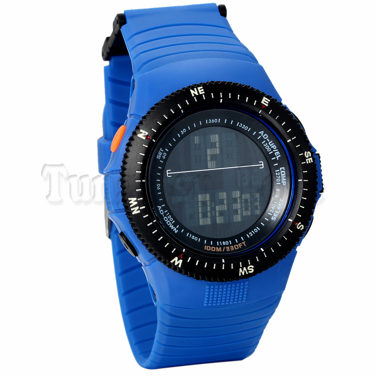 Military Army Men Digital Compass Watch 50M Waterproof watch Multiple Function Watch Blue Black Brown Band(China (Mainland))