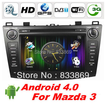 """HD 2 din 8 """"Android 4.0 Car DVD Car Audio for Mazda 3 2009-2012 With GPS 3G / WIFI 3D UI PIP Bluetooth IPOD Radio / RDS AUX IN"""