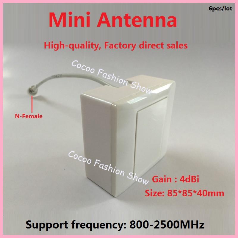 4dbi waterproof 800-2500Mhz indoor outdoor Panel antenna gsm 3G radio antenna LTE 4G panel antenna mini FDD TDD antenna 6pc/lot(China (Mainland))