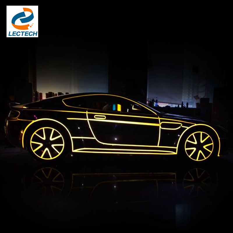 Auto Car Motorcycle Decoration Whole Reflective Tape Film 500*2cm Color Shiny Sticker Tint Strip Styling Free Shipping(China (Mainland))