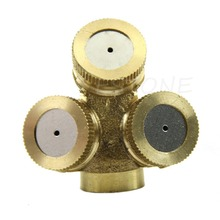 3 Holes Adjustable Brass Spray Misting Nozzle Gardening Sprinklers Irrigation(China (Mainland))