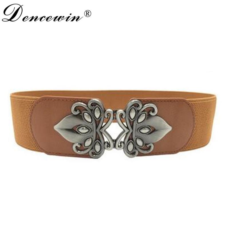 Women belt flower PU Leather girl belt elastic lady belts Vintage pu Leather Strap girl Automatic Buckle belt Waist Bag(China (Mainland))