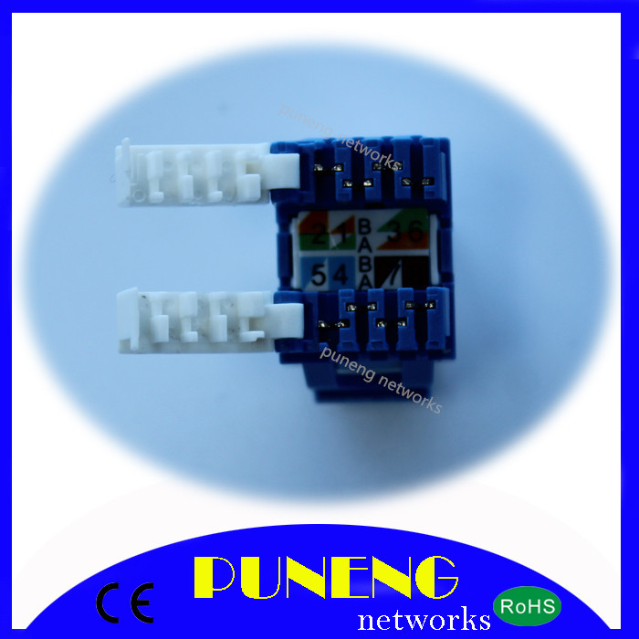 Ningbo PUNENG networks cat 5E UTP keystone jacks, cat 5E upt, keystone jacks, RJ45(China (Mainland))