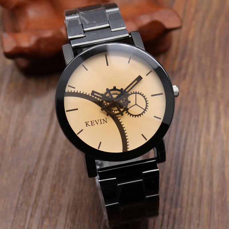 2015 Fashion Men Women Watch Relogio Masculino Black Stainless Steel Watch Relogio Women s Watch Gift
