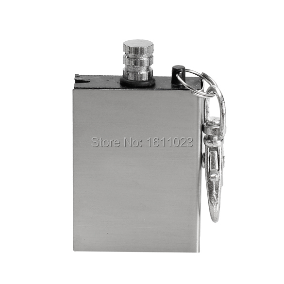 10Pcs Metal Match Lighter Gas Oil Fire Starter Keychain for Camping Outdoor E2shopping