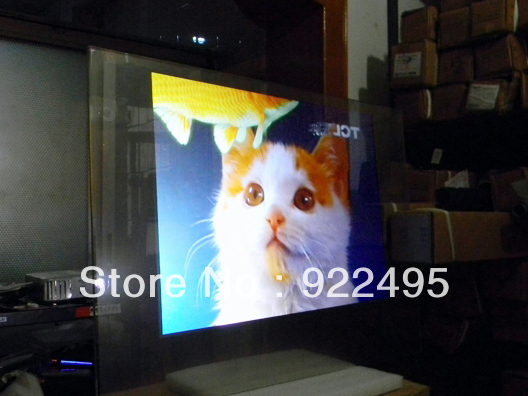 NEWS!!! Supply (1m*1.524m) Self adhesive holographic transparent rear projection film with lowest price(China (Mainland))